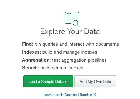 explore your data in mongodb atlas