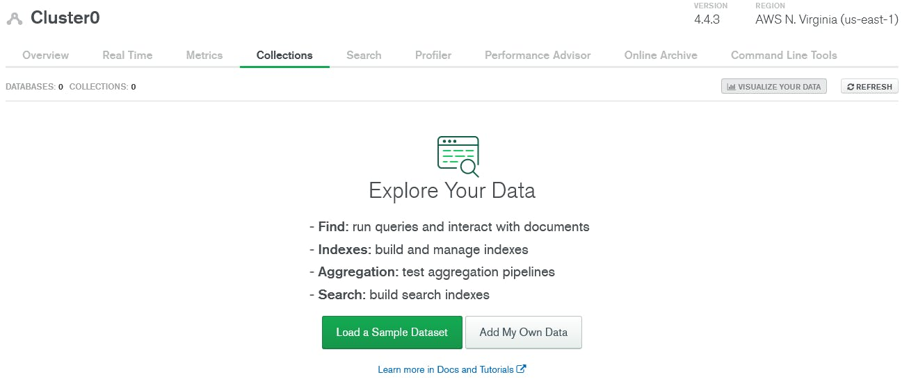 load sample data in mongodb atlas