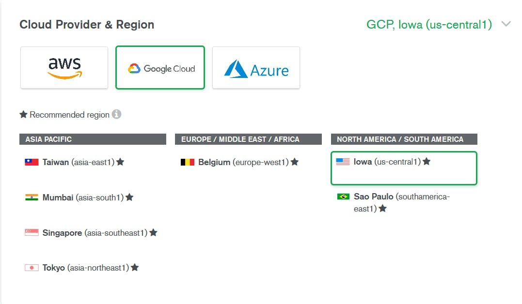 select google cloud cloud provider