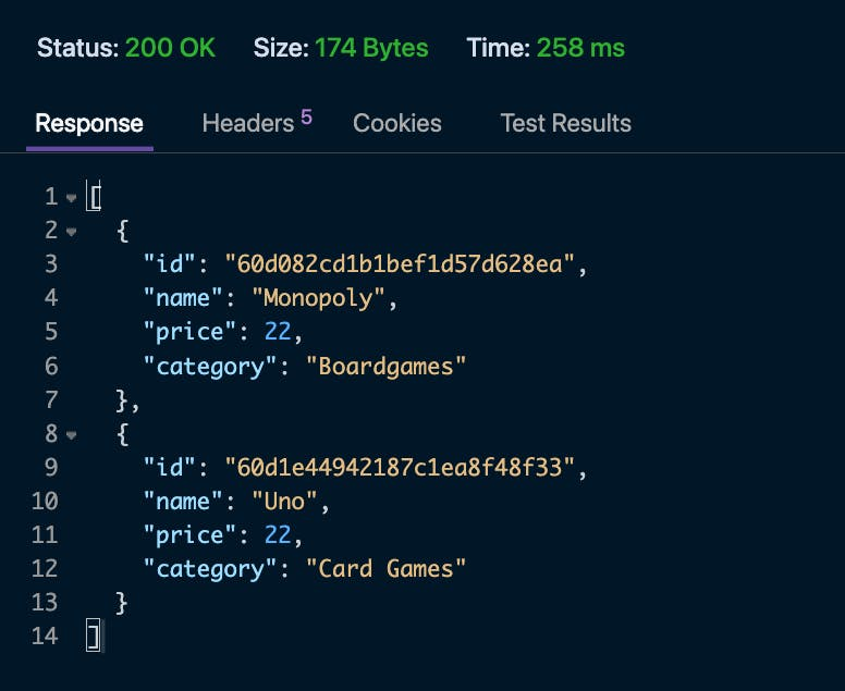 mongodb .net screenshot- read