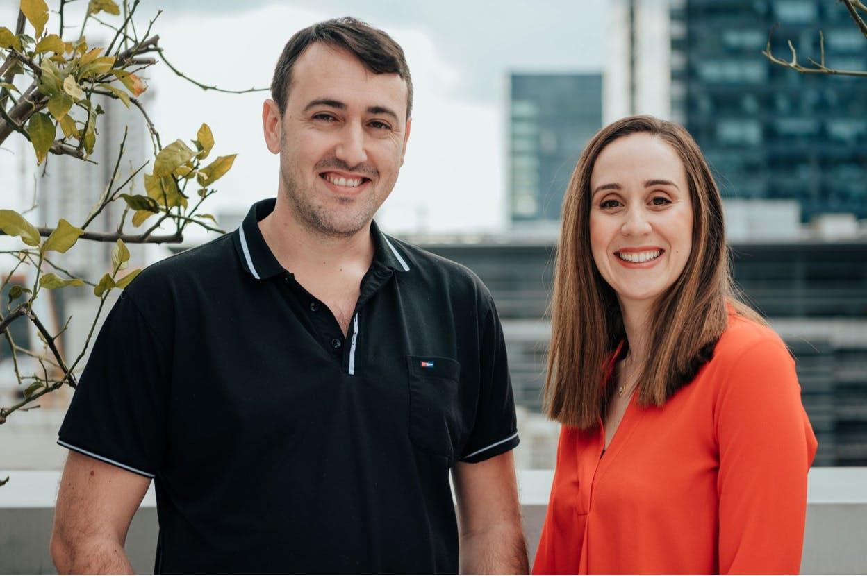 Leadgence CEO Leetal Gruper and CTO Sergey Bahchissaraitsev