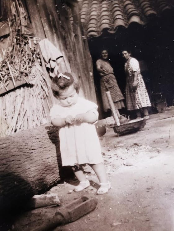 Photo of Alicia's mother as a child